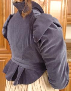 blue spencer back detail