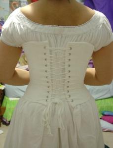 civil war chemise and corset back