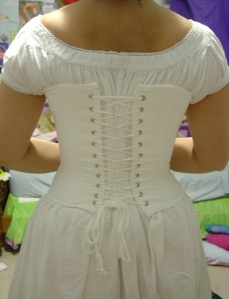 civil war chemise and corset back