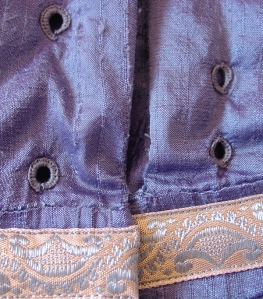regency blue eyelet detail