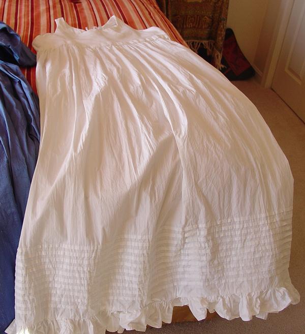 Regency bodiced petticoat front