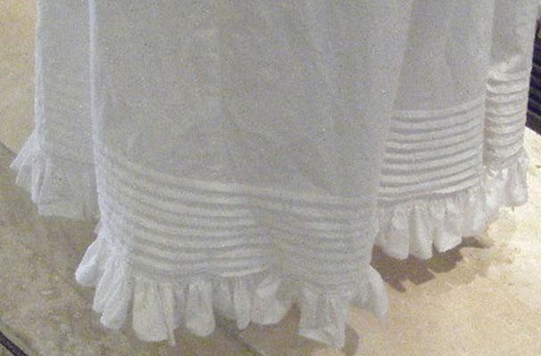 Regency petticoat pintucks