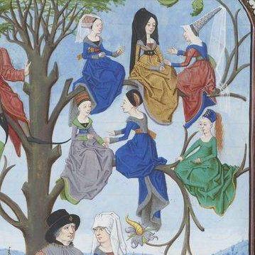 women in a treee