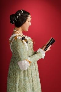 Venetian with book