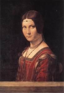 Leonardo da Vinci, La Belle Ferroniere, 1490.