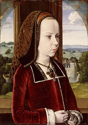 Jean Hey (Master of Moulins). Portrait of Margaret of Austria