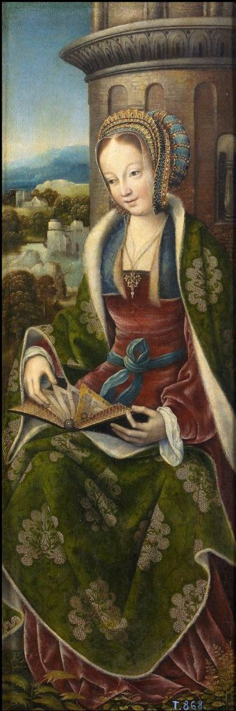 st-barbara-wings-of-tryptich-by-master-of-frankfurt-1510-1520