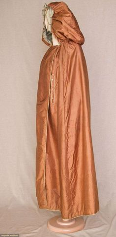 orange silk cloak 18th c