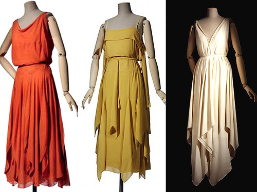 vionnet handkercheif dresses