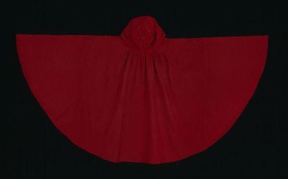 18th century red wool cloak at Williamsburg