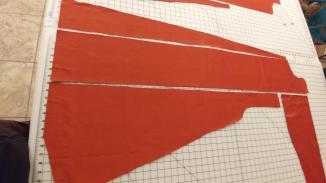 anteri period cut left side full length gore